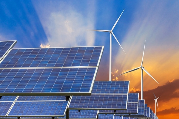 solar panels and wind turbines energy from natural