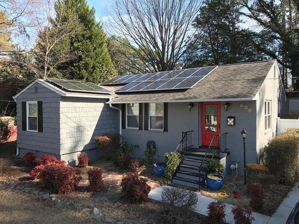 nc solar panels on roof